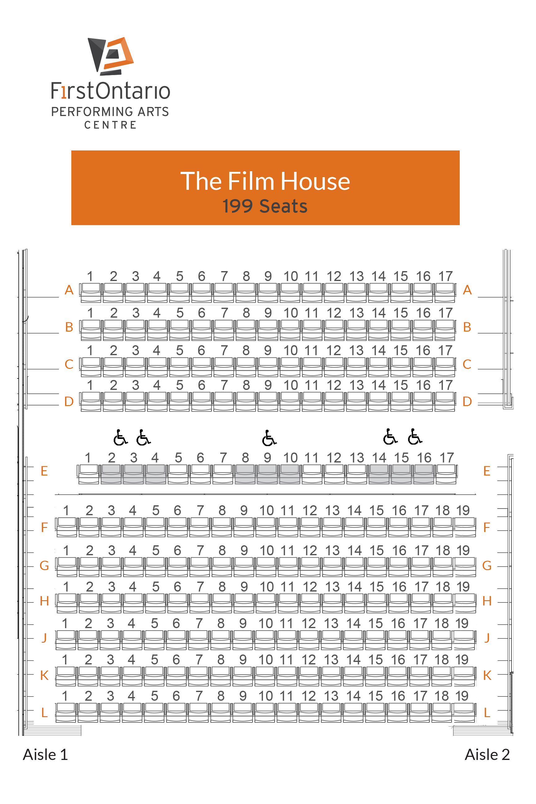 Film Hall - Seat Map